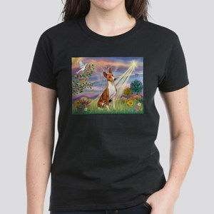 Cloud Angel & Basenji Women's Dark T-Shirt
