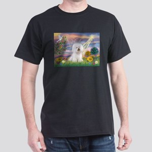 Cloud Angel & Bichon Dark T-Shirt