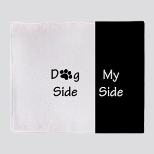 Dog Side My Side Throw Blanket