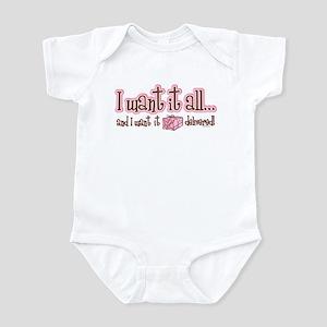 Want It All Delivered Infant Bodysuit