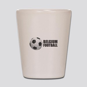 Belgium Football Shot Glass