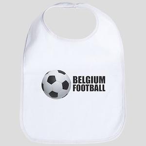 Belgium Football Baby Bib