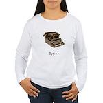 Typewriter Women's Long Sleeve T-Shirt