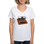 Typewriter Women's V-Neck T-Shirt