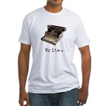 Typewriter Fitted T-Shirt