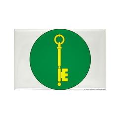 Gold Key Rectangle Magnet
