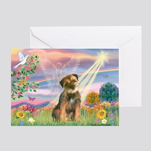 Cloud Angel & Border T Greeting Card