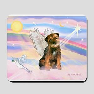 Angel / Border Terrier Mousepad