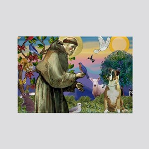 Saint Francis & Boxer Rectangle Magnet