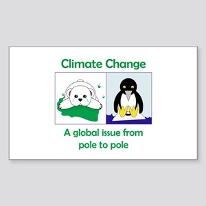 Climate Change Rectangle Sticker