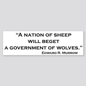 Nation of Sheep Bumper Sticker