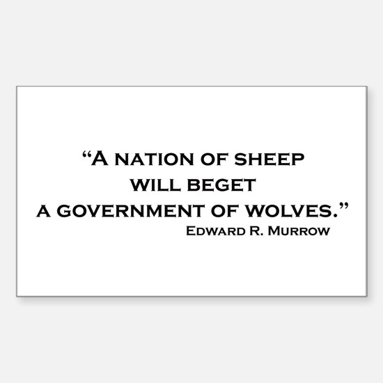 Nation of Sheep Rectangle Decal