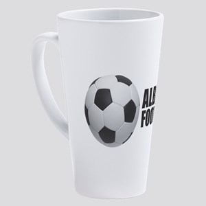 Albania Football 17 oz Latte Mug