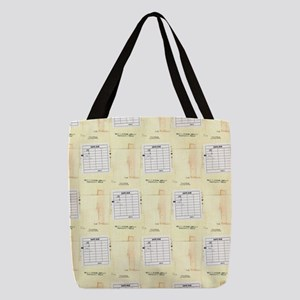 Library Book Date Due Card Polyester Tote Bag