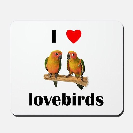 I love lovebirds Mousepad