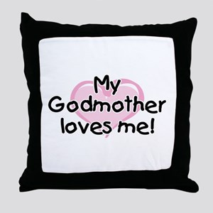 My Godmother loves me pk Throw Pillow