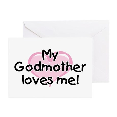 My Godmother loves me (pk) Greeting Card