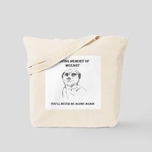 mozart dedication Tote Bag
