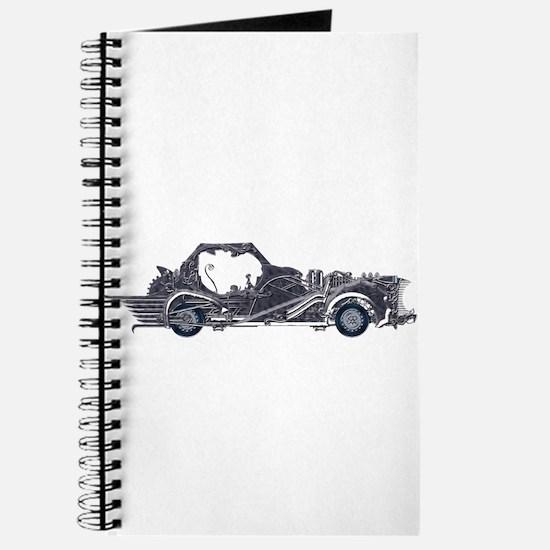 Silver Steampunk Car Journal