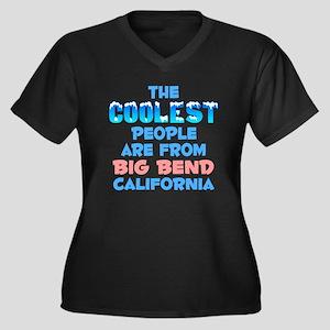 Coolest: Big Bend, CA Women's Plus Size V-Neck Dar
