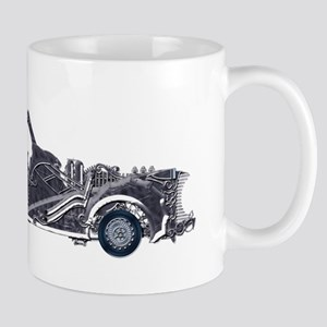 Silver Steampunk Car Mugs