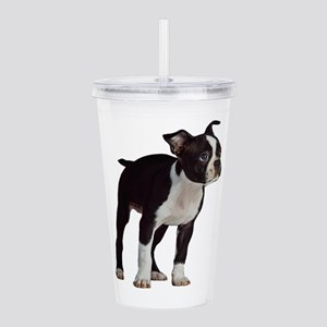 Boston Terrier Puppy Acrylic Double-wall Tumbler