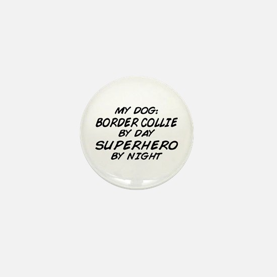 Border Collie Superhero Mini Button