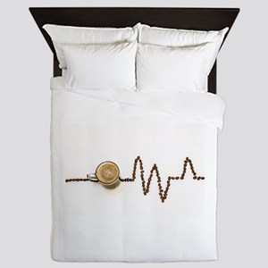 Coffee Gives Me A Pulse Queen Duvet