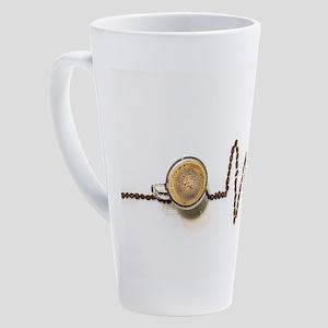 Coffee Gives Me A Pulse 17 oz Latte Mug