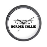 Border collie agility Wall Clocks