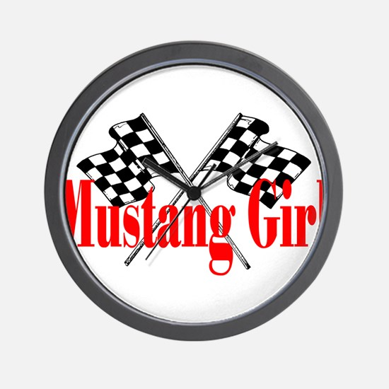 Mustang Girl Wall Clock