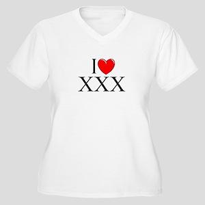 """""""I Love (Heart) XXX"""" Women's Plus Size V-Neck T-Sh"""