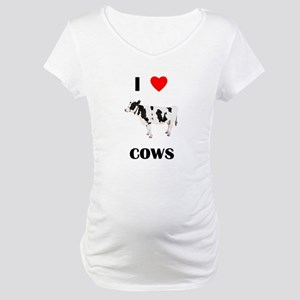 I love cows Maternity T-Shirt