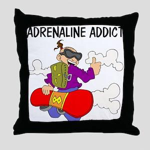 Adrenaline Addict Throw Pillow