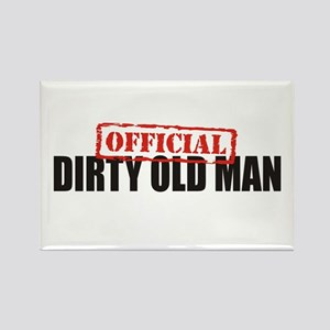 Official Dirty Old Man Rectangle Magnet