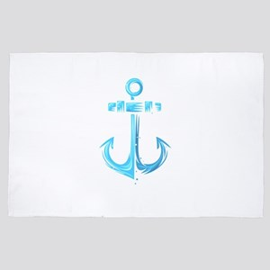 Anchor Sailing Nautical 4' x 6' Rug
