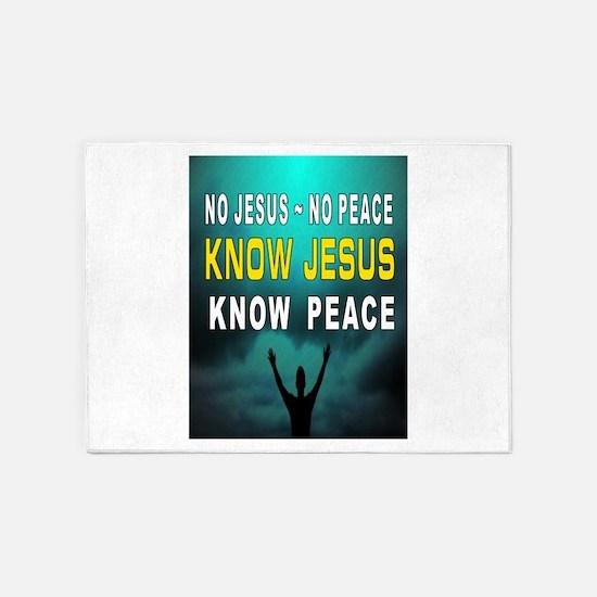NO JESUS 5'x7'Area Rug