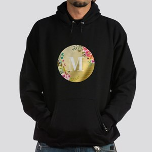Floral Gold Foil Circle Monogram Sweatshirt