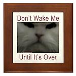 Don't Wake Me Framed Tile