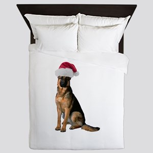 German Shepherd Santa Queen Duvet