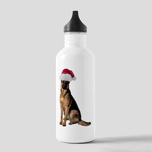 German Shepherd Santa Stainless Water Bottle 1.0L