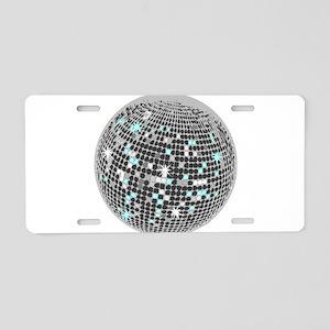 Disco Ball Aluminum License Plate