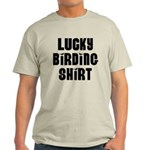 Lucky Birding Shirt (Black Text) Light T-Shirt