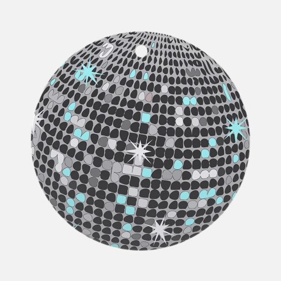 Disco Ball Round Ornament