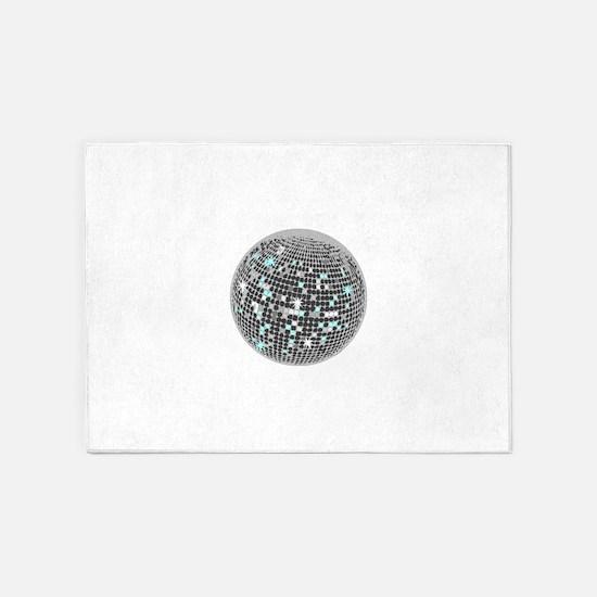 Disco Ball 5'x7'Area Rug
