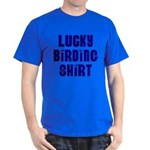 Lucky Birding Shirt (Royal Text) Dark T-Shirt