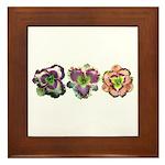 Lavender Daylilies Framed Tile