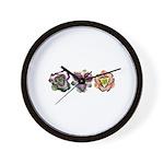Lavender Daylilies Wall Clock