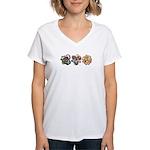 Lavender Daylilies Women's V-Neck T-Shirt