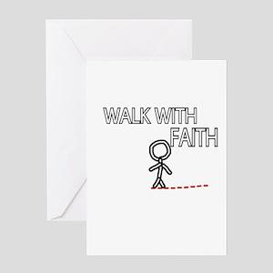 WALK WITH FAITH Greeting Cards